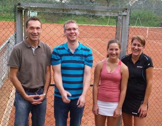 Vereinsmeisterschaft 2014 - Peter Retzlaff, Thomas Fröhlich, Kira Brand und Stefanie Wickenkamp